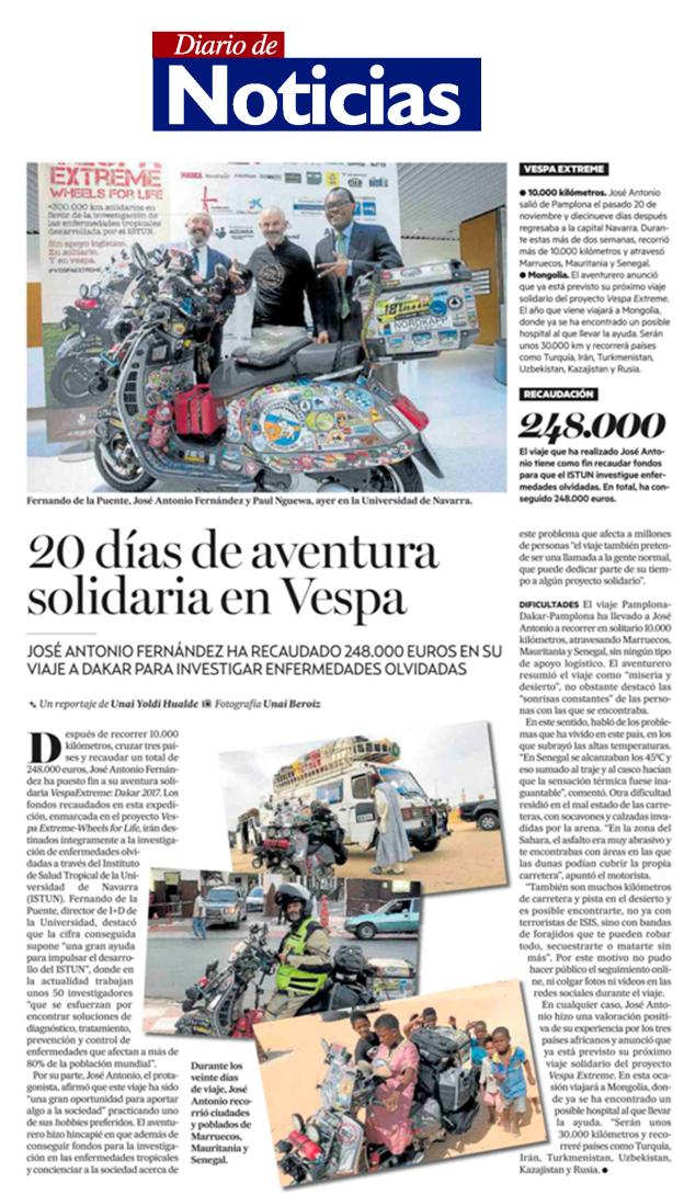 Diario de Noticias - 16 de diciembre de 2017